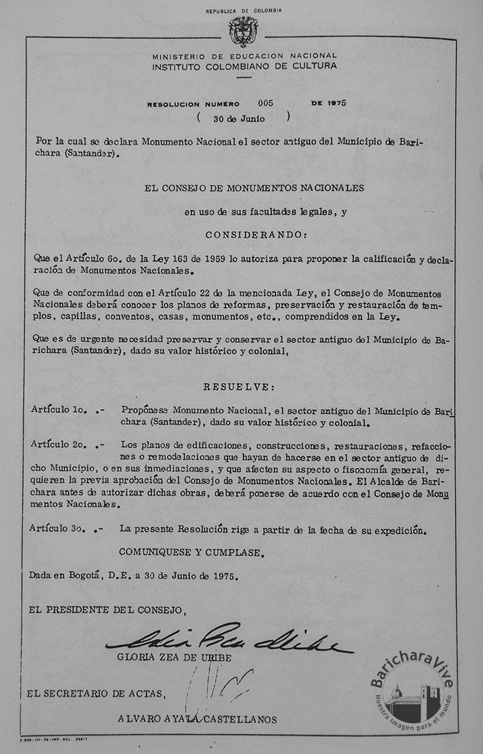 Decreto-Declaratoria-Barichara-Monumento-Nacional--Agosto-3-de-1978