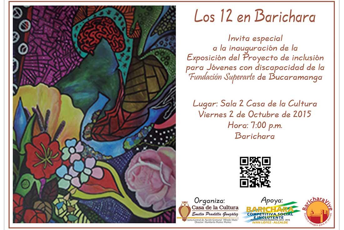 invitacionexposicionlos12enbaricharaoctubre2015