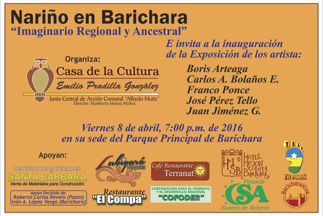 invitacionexposiconnarinoenbarichara2016