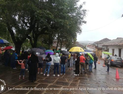 La Comunidad de Barichara se manifiesta por el Agua