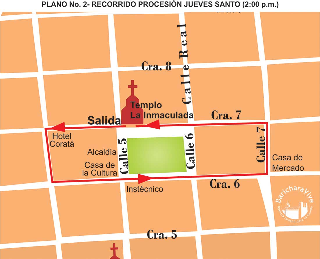 2-recorrido-procesión-jueves-santo-2019