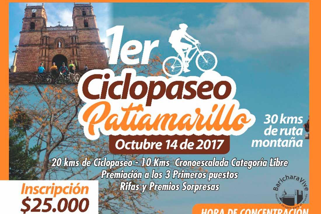 1er. Ciclopaseo Patiamarillo en Barichara