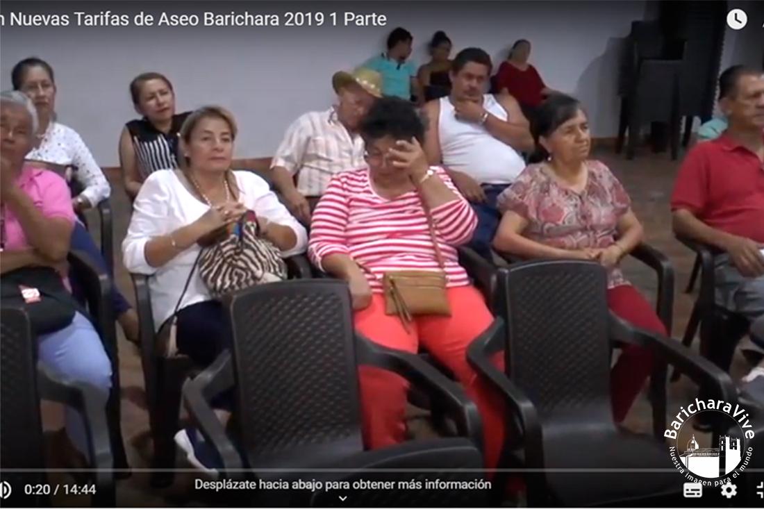 Socialización Nuevas Tarifas de Aseo Barichara 2019