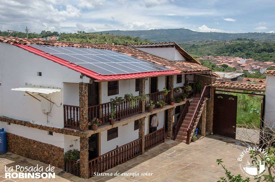 La Posada de Robinson 100% energía solar