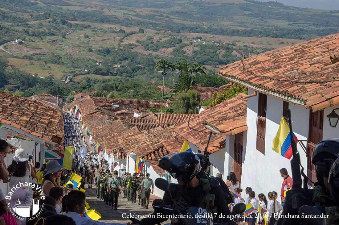 Celebración del Bicentenario en Barichara en imágenes