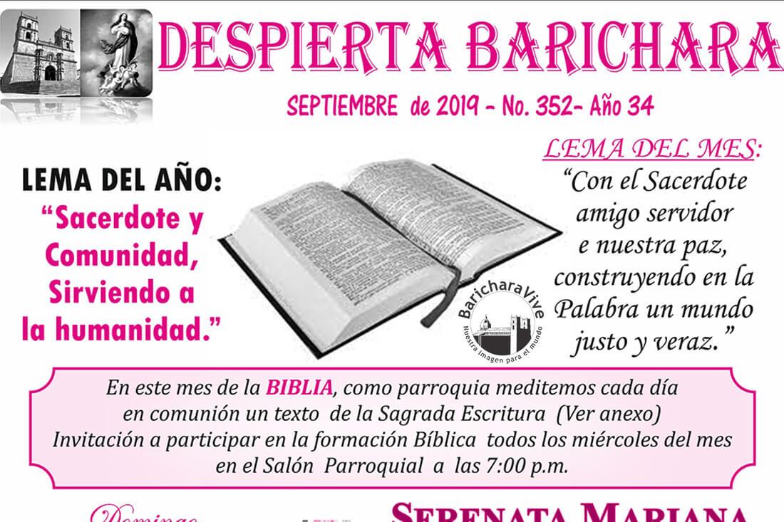 Boletín Parroquial mes de Septiembre