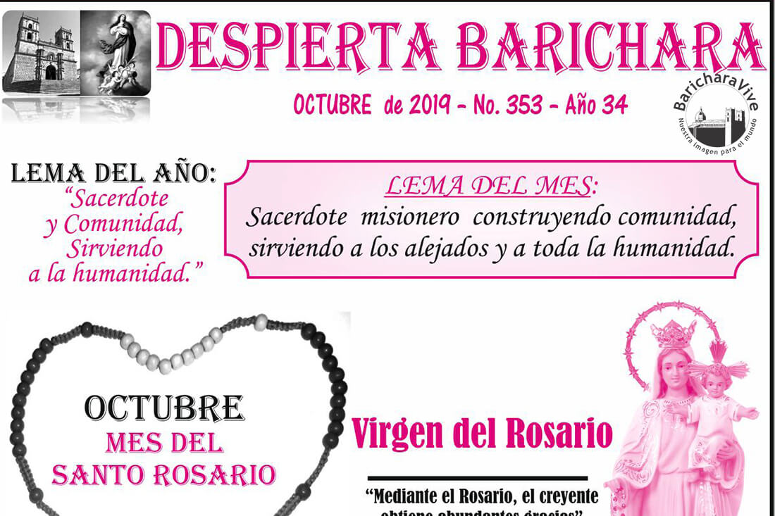 Boletín Parroquial mes de Octubre