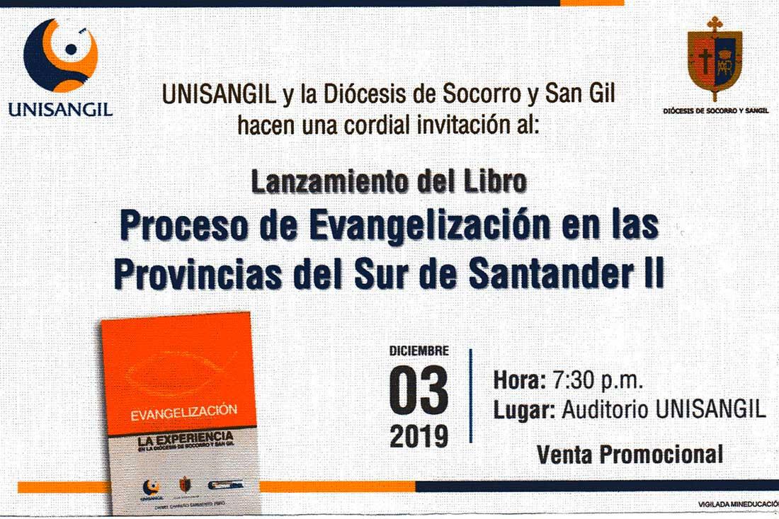 Lanzamiento nuevo libro Presbítero Daniel Carreño Sarmiento