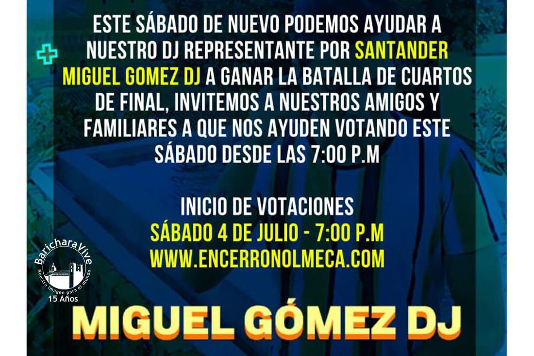 Disyei Miguel Gómez hoy compite en cuartos de final