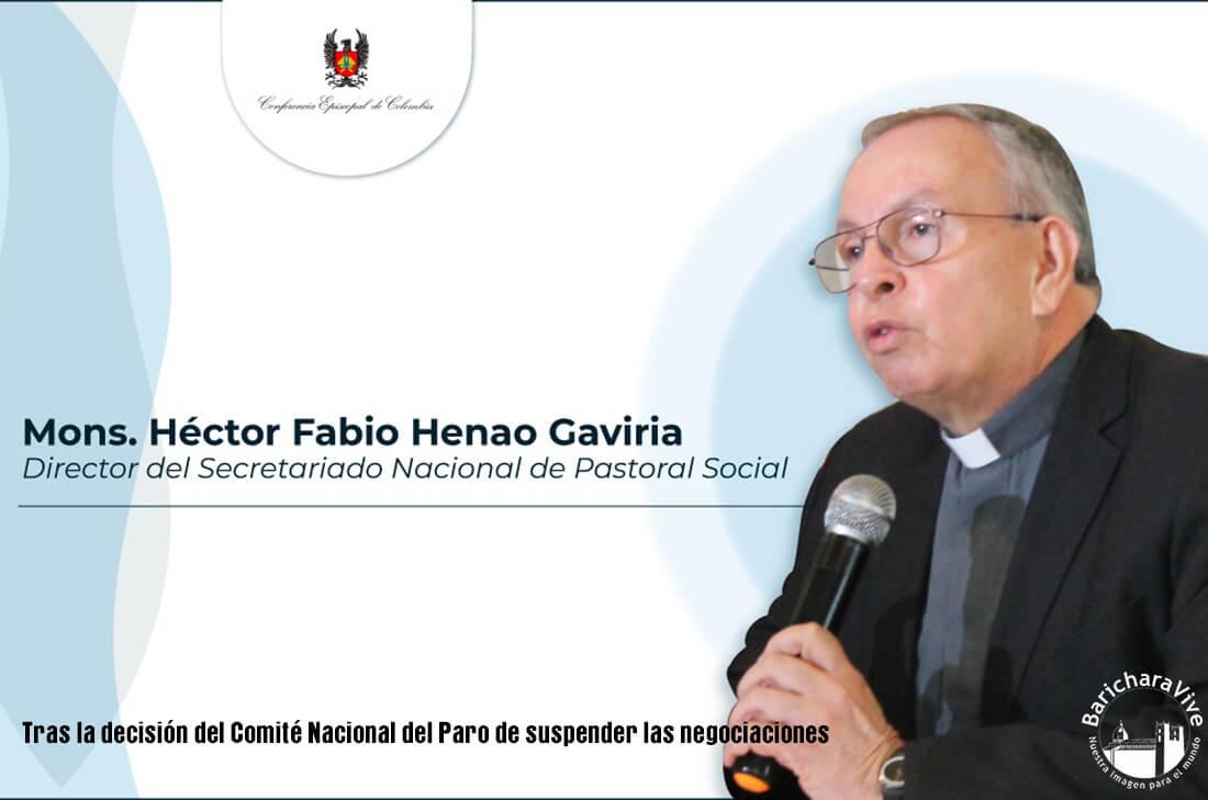 Monseñor Henao: «La Iglesia invita a crear un clima de reconciliación».